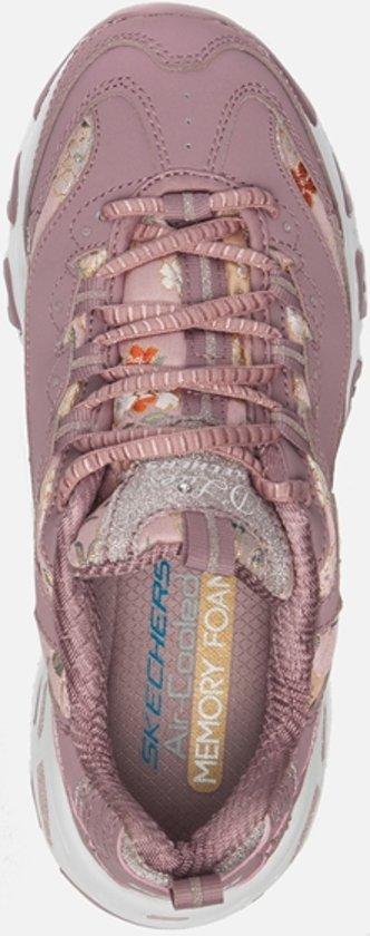 Skechers Sneakers Dames D'lites Days floral Mauve UqwSPZxUn
