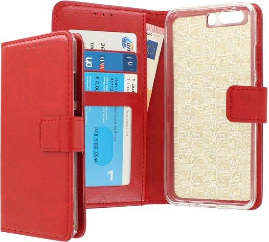 CaseBoutique Huawei P10 hoesje rood kunstleer