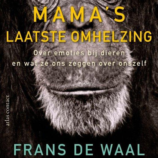 Boek cover Mamas laatste omhelzing van Frans de Waal (Onbekend)
