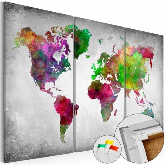 Afbeelding op kurk - Diversity of World , wereldkaart