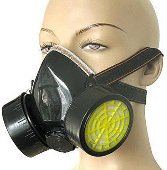 BonQ Gasmasker - Actieve kool - Inclusief Filters