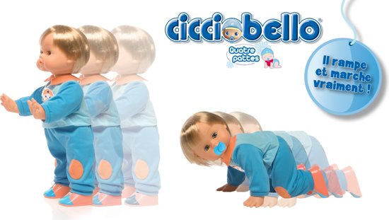 Cicciobello kruipende Baby Pop - 45 cm