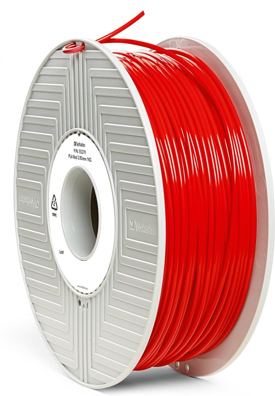 Verbatim 55279 3D Printer Filament PLA 2.85mm 1kg Rood