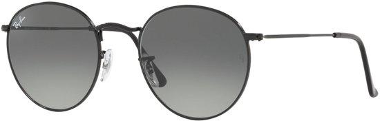 fc626835a98bf Ray-Ban Round Metal Black Zonnebril 0RB3447N 002 71 53 (Diameter lens