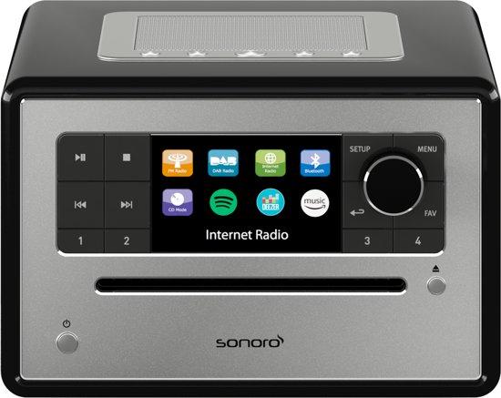 Sonoro ELITE - Internet Radio met CD-Speler - Zwart
