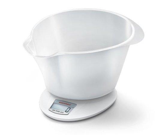 Soehnle-Roma Plus-Keukenweegschaal-Digitaal-Transparant Wit