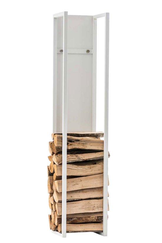 Clp Spark - Brandhoutrek - Mat wit - 25 x 25 x 160 cm
