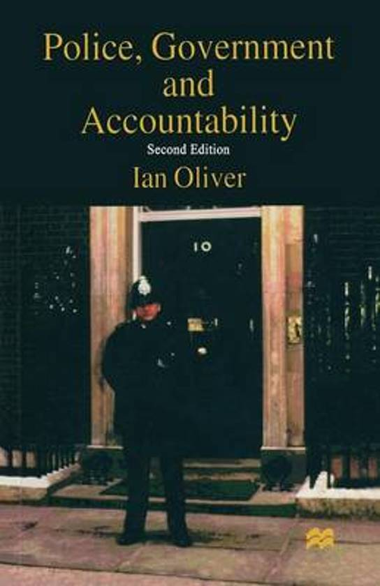 Police, Government and Accountability