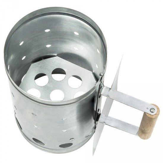 Barbecue starter - houtskool starter - metaal - 27x16cm