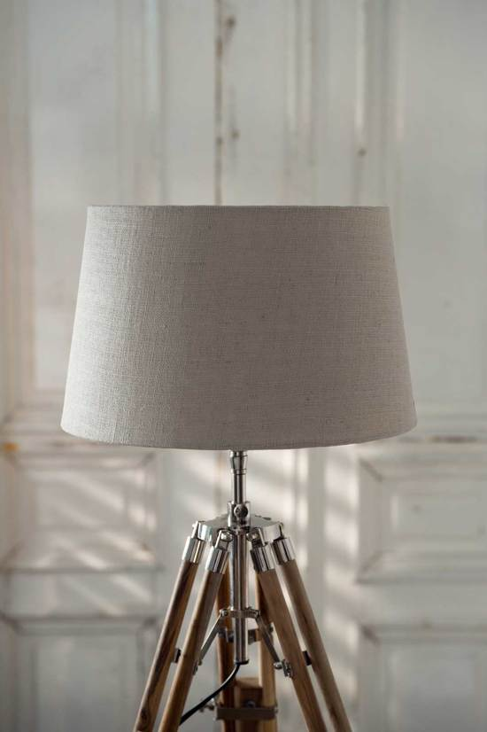 Rivièra Maison Classic Lamp shade - Lampenkap - Bruin - 23 x 30 cm - Linnen