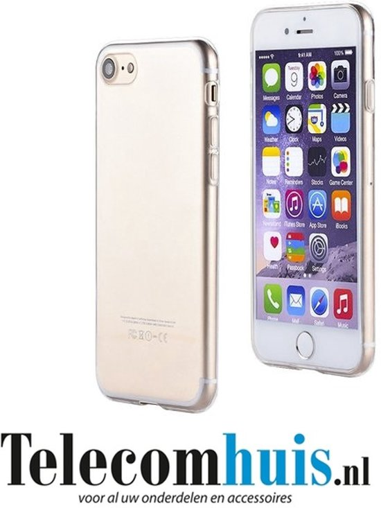 Apple iPhone 7 smartphone hoesje siliconen case pvc transparant