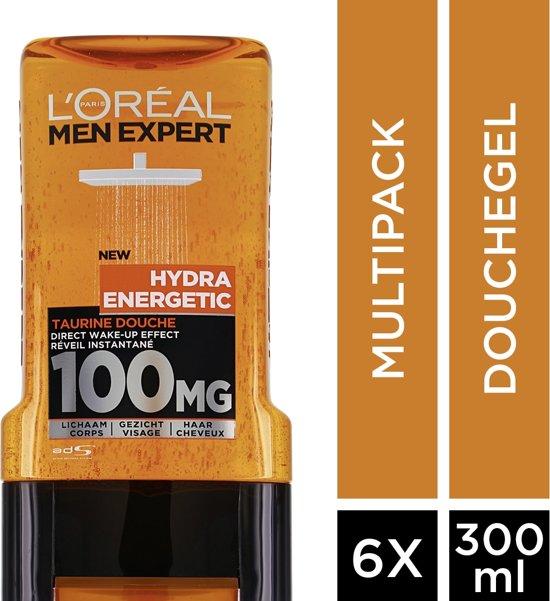 L'Oréal Men Expert Hydra Energetic Douchegel - 6x300 ml - Voordeelverpakking