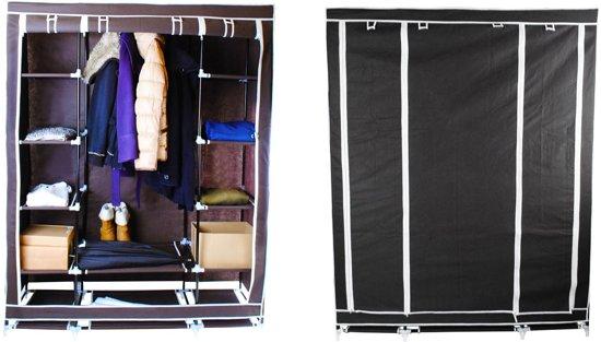 Garderobe En Schoenenkast.Opvouwbare Kledingkast Stof Kleding Kast Garderobekast Garderobe Kast Schoenenkast Kleerkast 12 Legplanken
