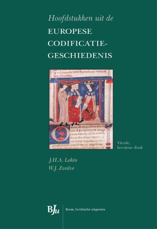 Boek cover Hoofdstukken uit de Europese codificatiegeschiedenis van Lokin/Zwalv (Onbekend)