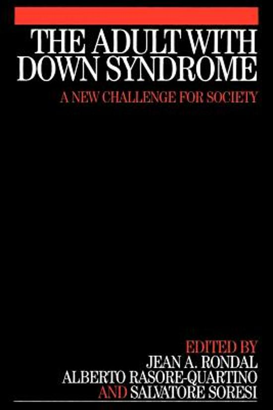 The Adult with Down Syndrome