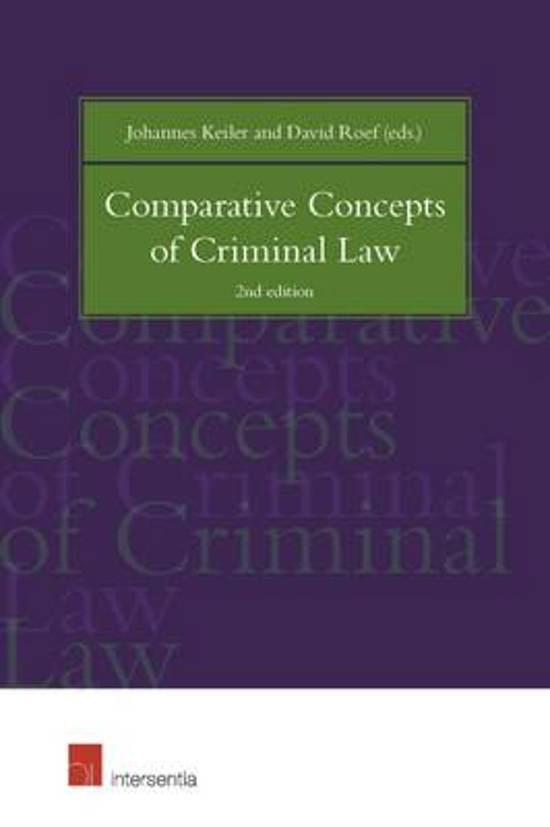 Comparative Concepts of Criminal Law - Johannes Keiler