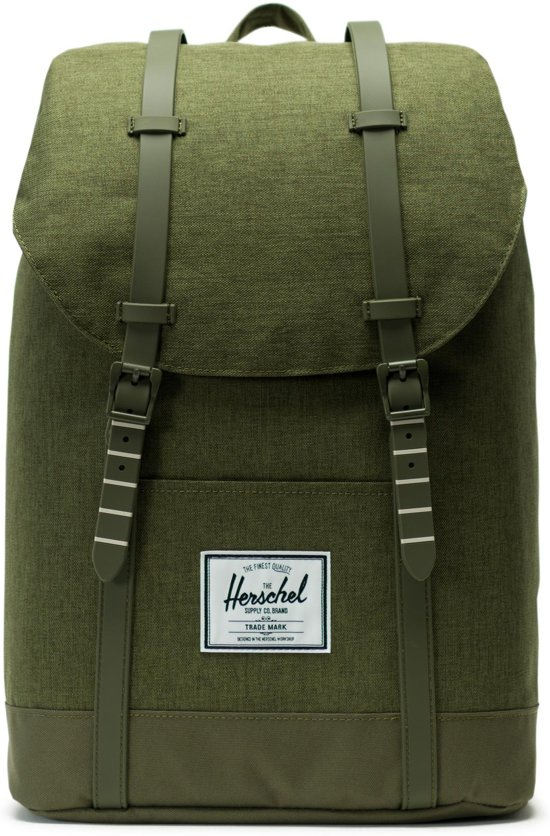 e2e8e21cc4f Herschel Supply Co. Retreat Rugzak - Olive Night Crosshatch / Olive Night