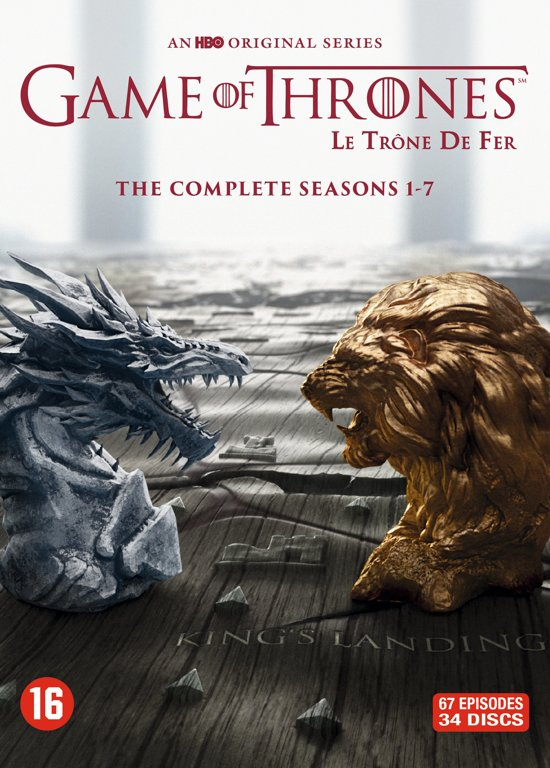 DVD cover van Game Of Thrones - Seizoen 1 t/m 7