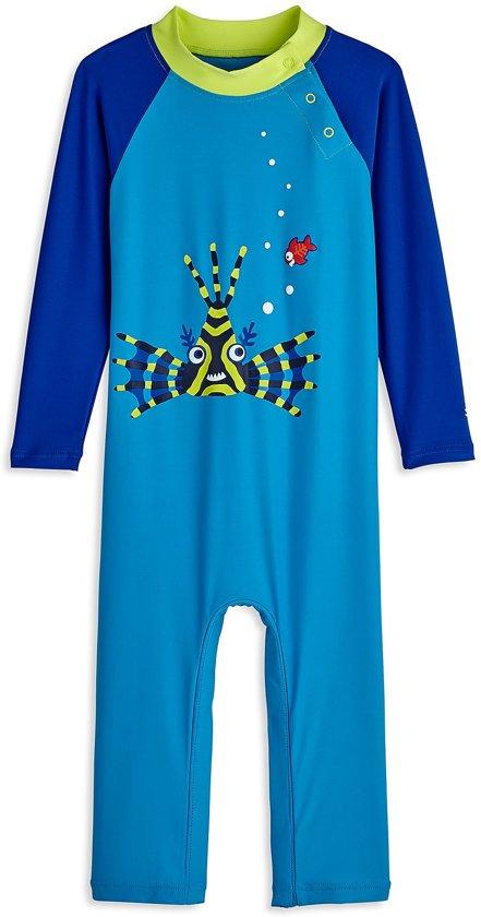 Coolibar UV zwempakje Baby´s Blue Lion Around - Blauw - Maat 18-24 mnd