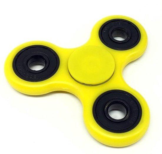 Fidget Spinner geel kunststof fidgetspinner relaxing spinner