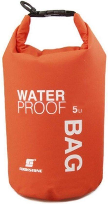 872a63c1b21 Drybag 5 Liter - Oranje - Waterdichte tas - Houd uw spullen droog en  beschermd