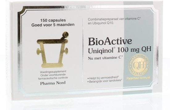 Pharma Nord BioActive Uniqinol Q10 100 mg - 150 Capsules - Voedingssupplement