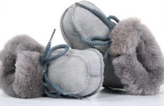 Bernardino Baby slofjes - Grijs  - Maat 20