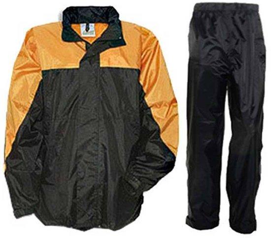 Kids Regenpakken Kingston Anuy Zwart oranje ZIWS71q