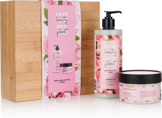 Love Beauty and Planet geschenkset Muru Muru Butter & Rose