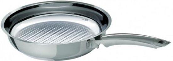 Fissler crispy steelux premium koekenpan, 24cm