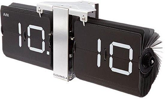 Karlsson Flip Klok : Bol cloudnola flipklok flipping out zwart staal flip clock rvs