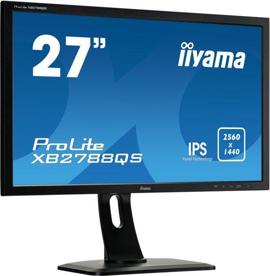 iiyama ProLite XB2788QS-B1 27'' Wide Quad HD LED Mat Flat Zwart computer monitor LED display