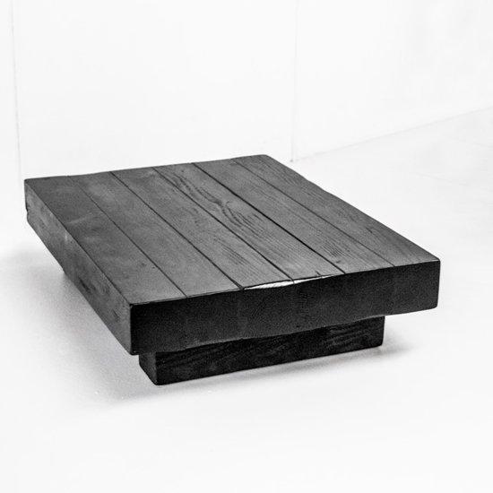 Zwarte Salon Tafel.Tafel Zwart Hout Xxl Salontafel Handgemaakt