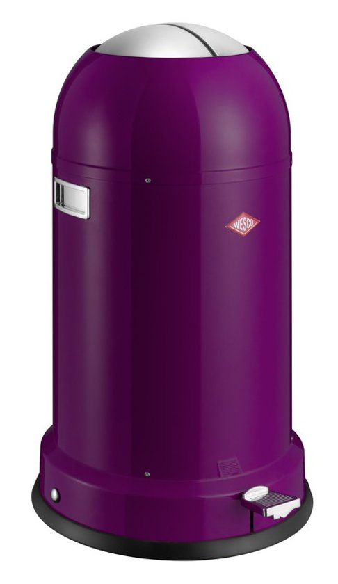Wesco Kickboy 40 Liter Paars.Wesco Kickmaster Classic Line Soft Pedaalemmer 33 L Blackberry Purple