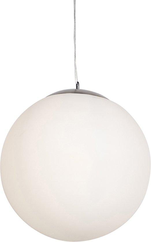 QAZQA Ball 50 - Hanglamp - 1 lichts - mm - wit