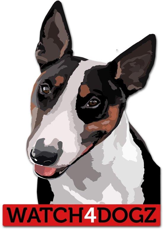 Bull Terrier sticker (set van 2 stickers)