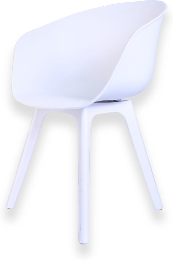 Qeeboo Loop eetkamerstoel + kussen 2 st wit