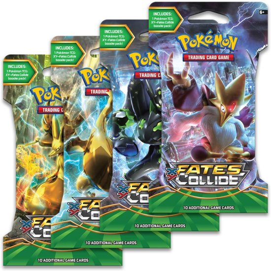 Afbeelding van het spel Pokemon booster XY10 sleeved Fates Collide