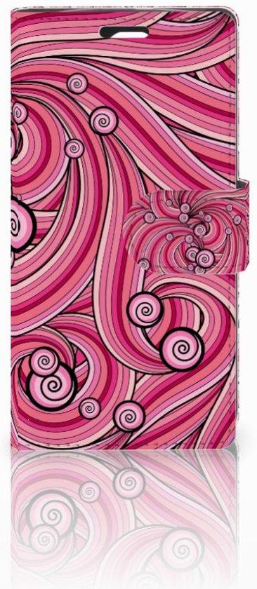 LG Spirit Uniek Boekhoesje Swirl Pink