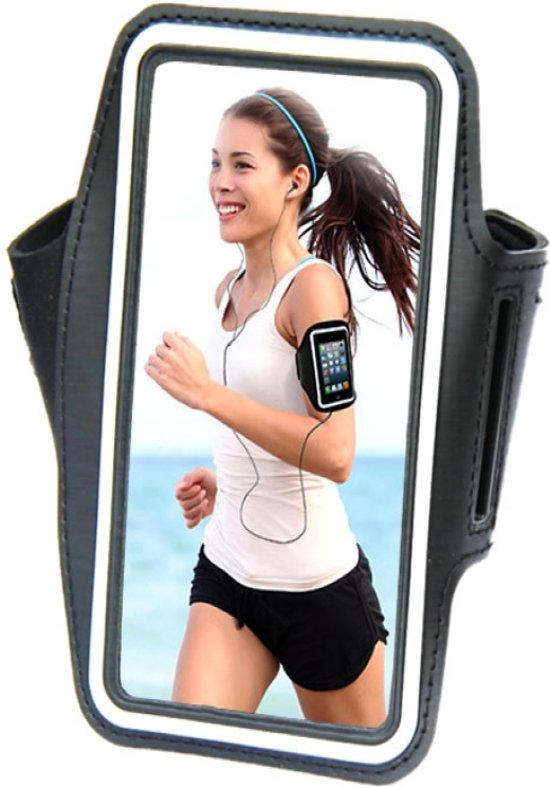 Comfortabele Smartphone Sport Armband voor uw Vodafone Smart Ultra 6, zwart , merk i12Cover