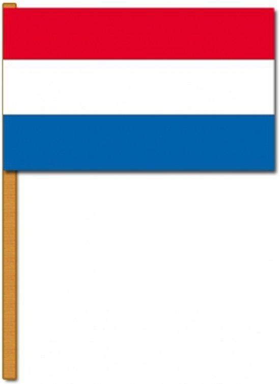 Nederlandse luxe zwaaivlag 30x45 cm