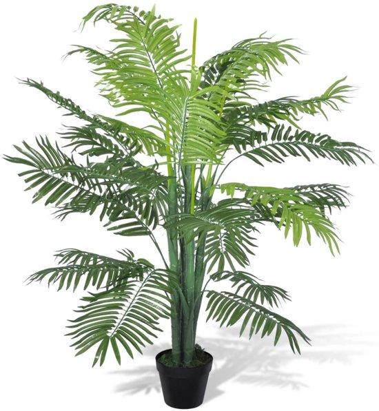 vidaXL Kunstplant Phoenix palmboom met pot 130 cm