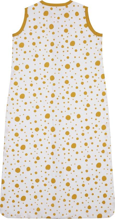 Meyco zomerslaapzak Dots - 90 cm - okergeel