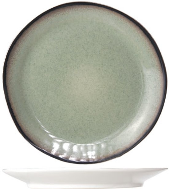 Cosy&Trendy Fez Dinerbord - Ø28 cm - Green - 4 Stuks