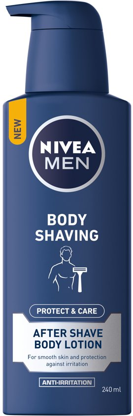 NIVEA MEN Body Shaving Protect & Care Aftershave Body Lotion - 240 ml
