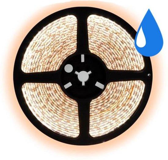 5 meter Warm wit led strip waterproof - IP68 - 60Leds/m - 2835