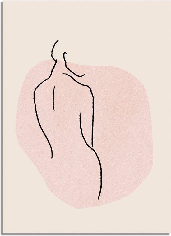 DesignClaud Vrouw lichaam - Grafische poster B2 poster zonder fotolijst