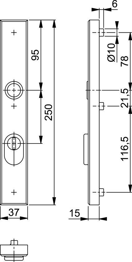 Hoppe Smalschild 2280Kt 250X37 Pc55 F1 3*