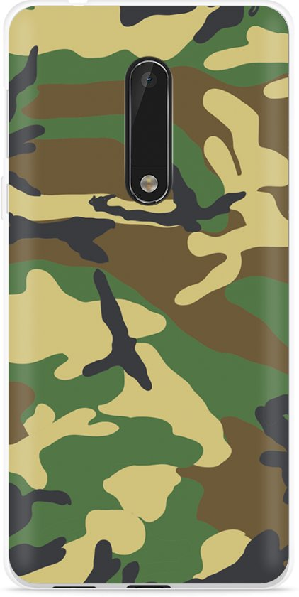 Nokia 5 Hoesje Army Camouflage Green