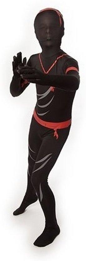 Ninja morphsuit voor kinderen 6-8 jaar (128)